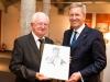 Verleihung des Estrongo Nachama Preis am Dr. Rudolf Seiters; Laudator Christian Wulff ( Foto: u.a. mit Wulff, Seiters)